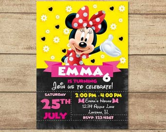 Minnie Mouse Invitations, Minnie Mouse Party Invites, Minnie Birthday Invitation, Minnie Printable, Minnie Birthday Party