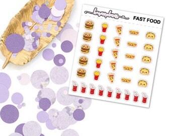 Fast Food - Planner Functional Stickers Erin Condren Happy Planner
