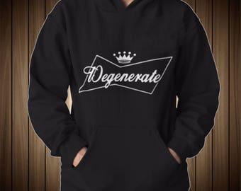 Degenerate Famous Beer Logo Funny Sweatshirt Budweiser