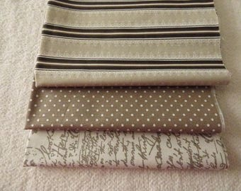 SET OF 3 FABRICS FOR PATCHWORK COUPONS