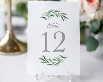 Printable Table Numbers Template, Editable Table Numbers, Wedding Table Numbers, Calligraphy Table Numbers, Editable Wedding Sign KPC02_203