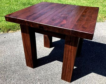 Walnut Shaker Style End Table