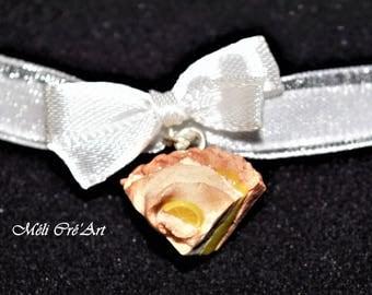 Earrings gourmet cake tart lemon meringue