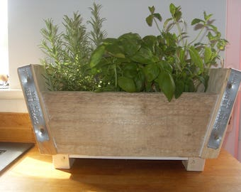 Kitchen Herb Planter made from recycled scaffold boards - ideal mothers day present