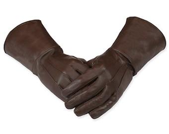 Swordsman Medieval Leather Gauntlet Gloves Larp SCA Cosplay Renaissance armor
