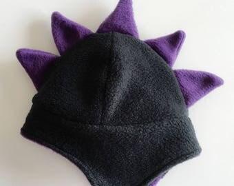 Dinosaur Beanie -Dinosaur Hat -  Fleece Beanie - Fleece Hat - Fleece Animal Hat - Baby Beanie - Kids Beanie - Kids Costume - Photo Prop