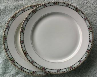 "2 Warwick (WV) 10"" plates"