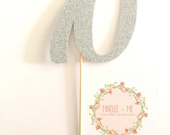 Number Cake Topper, Numeral, age, birthday, celebration