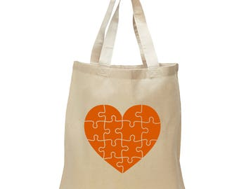 Puzzle Heart Tote