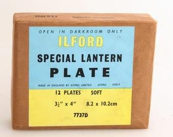 Ilford Special Lantern Plates, Box of 12//Darkroom Accessories