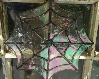 Stained Glass Spider and Web