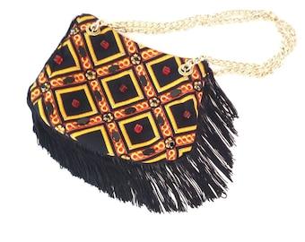 Night fringe bag