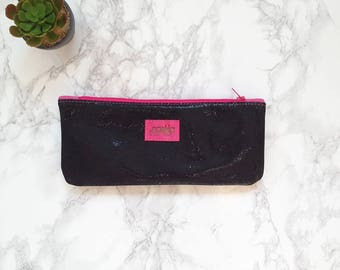 Leather pouch - zipper pouch - make up bag - pencil case - clutch - wallet - cosmetic bag - back to school - pencil pouch - bag organizer