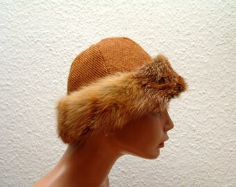 Cap, Medieval, Viking, Rus, fur Fuchs Genuine, Gr. 58, wool, linen