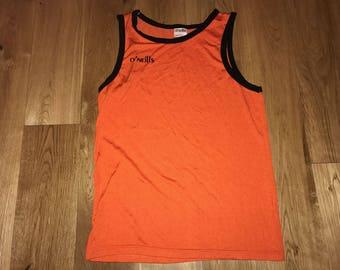 O'Neills Tank Top / Singlet Sleeveless made in Ireland - 90s Vintage Retro - Running - Deadstock New - Basketball