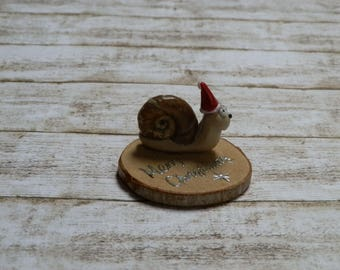 Christmas decoration snail