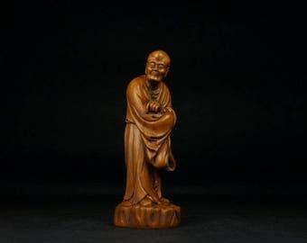 18th/19th Century Chinese Boxwood LoHan (Free Shipping)