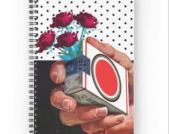 15x20 cm, Cigarette Notebook, Cigarette Spiral Notebook, Cigarette Journal, Rose Journal, Plants Journal, Rose Notebook, Polka Dot Journal