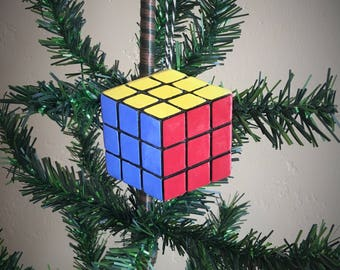 Ceramic Rubik's Cube Ornament or Magnet