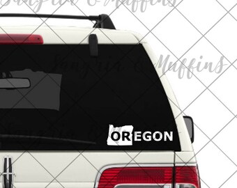 Oregon State Decal - car, window, laptop, tablet decal, pnw love, pnw pride, pnw decal, Oregon State decal, PDX, Made in Oregon, portland or