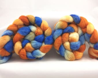 BFL wool top, 4 oz, spinning fiber, hand dyed, hand painted, wool top, boffo fibers, boffofibers, boffo, felting