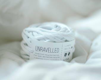 White Recycled T-shirt Yarn
