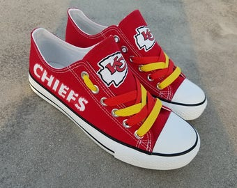 Kansas City Chiefs shoes Chiefs sneakers KC Chiefs shoes Holiday gifts Custom shoes