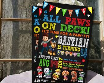 Paw Patrol, Paw Patrol Invitation, Paw Patrol Birthday, Paw Patrol Party, Paw Patrol Birthday Invitation, Paw Patrol Party, Paw Patro Invite
