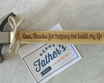 Personalized Hammer,Engraved Hammer,Gift for Dad,Fathers Day Gift,Groomsman Gift,Best Man Gift,Father of Bride,Father of Groom,Claw Hammer