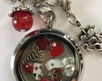Nurse Memory Locket Chain Included