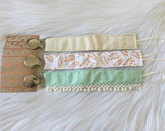 FLASH SALE, Set of three pacifier clips, binky clips, baby gift, baby shower, baby girl, baby boy, paci clips, binky holder, set of 3 pacifi