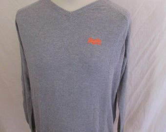 Superdry grey sweater size M to-48%