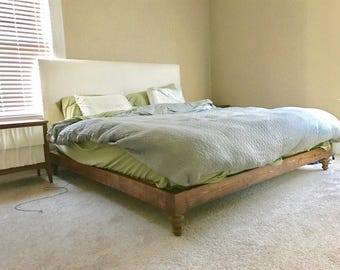 Rustic Wood Bedframe