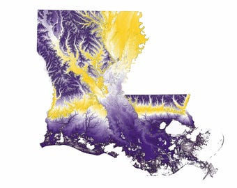 LSU Topographic Map