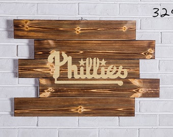 Philadelphia Phillies Wood Sign  Philadelphia Phillies Wall art  Philadelphia Phillies Gift  Philadelphia Phillies Birthday