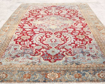 Red Madalion Rug,8u00279u0027u0027x13u0027u0027Feet,Persian Rug