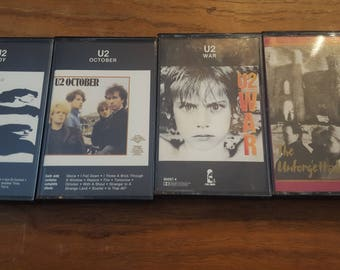 Lot of 4 U2 Cassettes - The Early Years