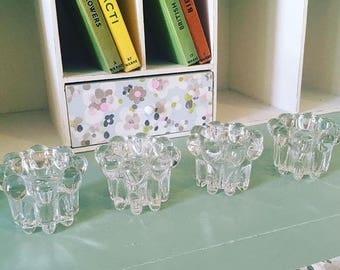 Vintage set of French Reims Candle holders