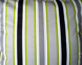 Black and Chartreuse Morgan Stripe Fabric by Premier Prints no.158