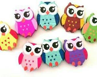 Wood OWL bead