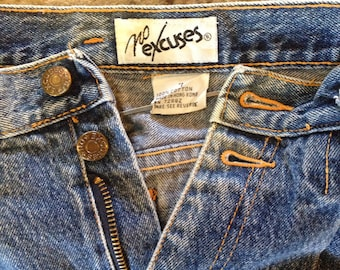 No Excuses High Waisted Tapered leg 1980's Jeans