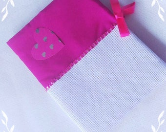 Health booklet protection cover to embroider.