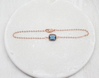 Bracelet Rosegold Blue