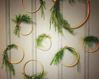 Delicate floral hoop