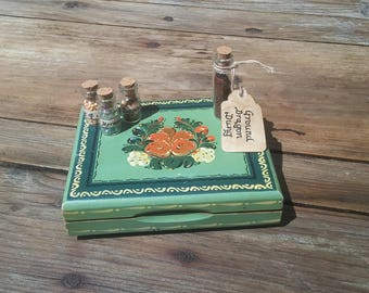Potions Kit in Beautiful Vintage Hand Painted Box