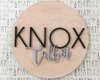 """Nursery Name Sign 