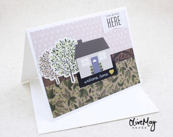 Welcome home housewarming congratulations greeting card, Realtor thank you