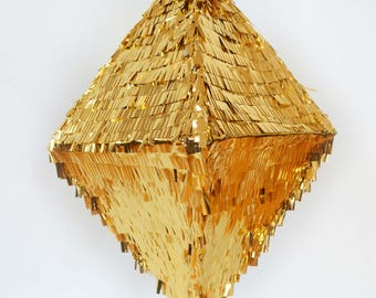 """Piñata """"Diamond Diamond"""" gold"""
