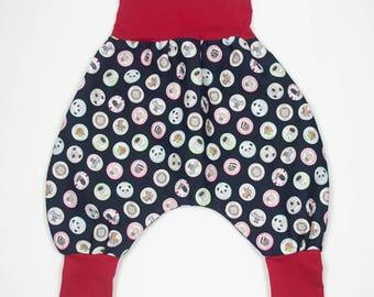 Child/baby Panda bear animal cotton harem pants