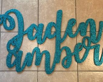 "Custom 24""x48"" Calligraphy Name"